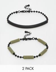 Комплект браслетов с резиновой отделкой ASOS