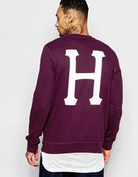 Свитшот с логотипом на спине HUF - Burgundy