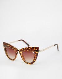 Солнцезащитные очки кошачий глаз с металлической переносицей ASOS