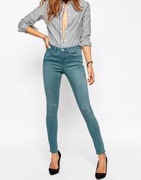 Синие выбеленные джинсы ASOS Premium Sculpt Me Leela
