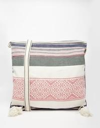 Парусиновая сумка через плечо с вышивкой в полоску Star Mela