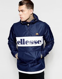 Куртка через голову с большим логотипом Ellesse - Темно-синий