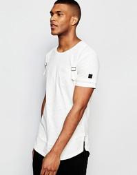 Удлиненная футболка с ремешками Black Kaviar - Белый