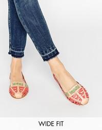 Кожаные летние туфли для широкой стопы ASOS JUBILEE - Мульти