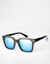 Квадратные солнцезащитные очки с синими зеркальными линзами AJ Morgan