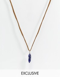 Замшевое ожерелье Reclaimed Vintage - Коричневый