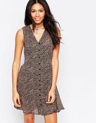 Короткое приталенное платье с цветочным принтом Brave Soul - Мульти