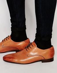 Светло-коричневые кожаные дерби с перфорацией ASOS - Рыжий