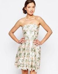 Платье-бандо с цветочным принтом Glamorous