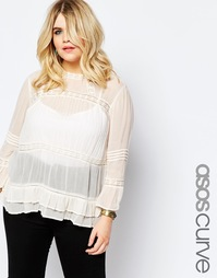 Винтажная блузка ASOS CURVE - Кремовый