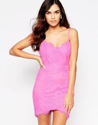 Кружевное платье-сорочка Glamorous - Сиреневый
