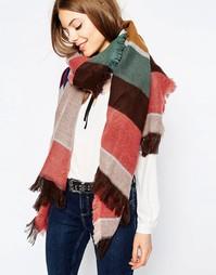 Oversize-шарф с разноцветными полосками ASOS - Мульти