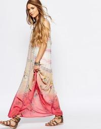 Струящееся платье макси с цветочным принтом и пайетками Glamorous