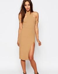 Платье мини с вырезами Missguided - Кэмел