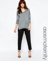 Креповые брюки-сигаретки для беременных ASOS Maternity - Черный
