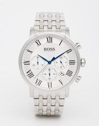 Серебристые часы с хронографом Hugo Boss 1513322 - Серебряный