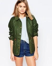 Утепленная вощеная куртка Jack Wills - Зеленый