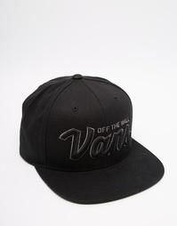 Черная бейсболка Vans Wilmington V2TWY30 - Черный