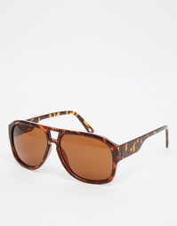 Солнцезащитные очки-авиаторы в черепаховой оправе AJ Morgan