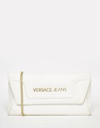Белая сумка-конверт через плечо с цепочкой Versace Jeans - Белый
