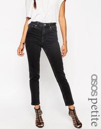 Черные выбеленные джинсы слим в винтажном стиле ASOS PETITE Farleigh