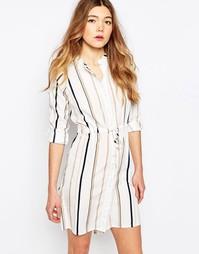 Платье-рубашка в полоску Influence - Серый