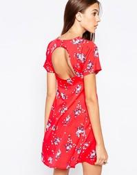 Чайное платье с плиссировкой спереди и открытой спинкой Influence