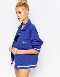 Трикотажная куртка в стиле oversize с логотипом спереди UNIF Mel