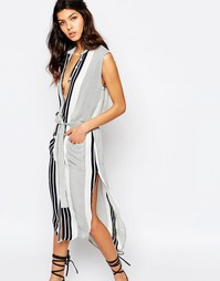 Платье миди в полоску Faithfull Old Town - Cabana stripe