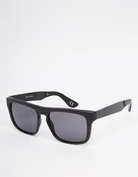Черные квадратные солнцезащитные очки с прямым верхом Vans V07EBKA
