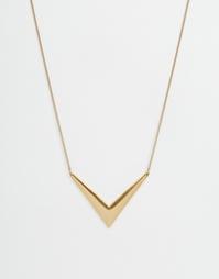 Ожерелье с подвеской-стрелкой Pilgrim - Золотой