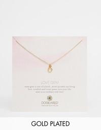 Ожерелье с подвеской из розового кварца Dogeared