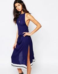 Платье миди с разрезом сбоку Faithfull Tuscany - Синий