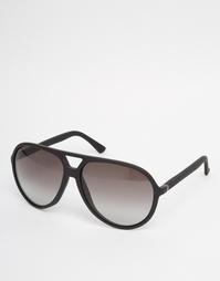 Черные солнцезащитные очки-авиаторы Gucci - Черный