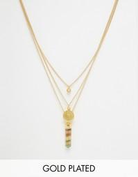 Многослойное ожерелье с хрусталем Rock N Rose Elissa - Золотой