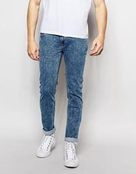 Мраморные эластичные джинсы скини Bellfield - Синий