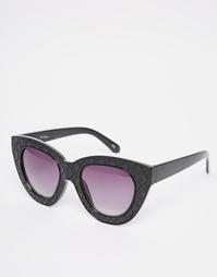 Фактурные солнцезащитные очки кошачий глаз Jeepers Peepers - Черный