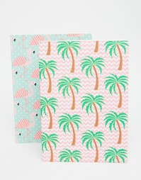 Тетради с фламинго и пальмами Sass & Belle - Мульти
