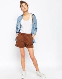 Повседневные шорты с выбеленными эффектом ASOS - Коричневый