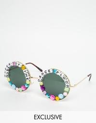 Круглые солнцезащитные очки Rad + Refined Queen of The Dance Floor