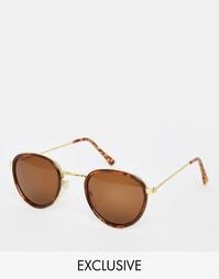 Круглые солнцезащитные очки Hindsight Vintage Boyce - Золотой