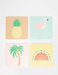 Подставки под напитки с тропическим дизайном Sass & Belle - Мульти