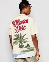 Рубашка классического кроя с пальмовым принтом сзади Dickies - Бежевый