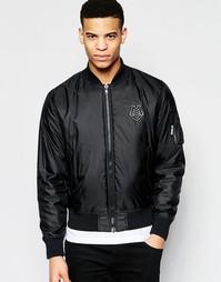 Куртка-пилот с логотипом Love Moschino - Черный