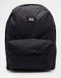 Рюкзак c принтом в клетку и логотипом Vans Old Skool II - Черный