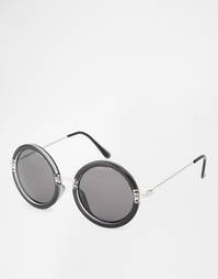 Большие круглые очки Cheap Monday - Черный