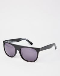 Черные солнцезащитные очки в оправе из ацетата ручной работы Dark Futu