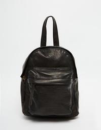 Кожаный рюкзак мини ASOS - Черный