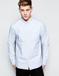 Оксфордская рубашка с воротником на пуговицах Bellfield - Синий