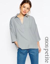 Свободная блузка ASOS PETITE - Серый